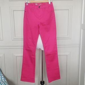 Pink bootcut pants